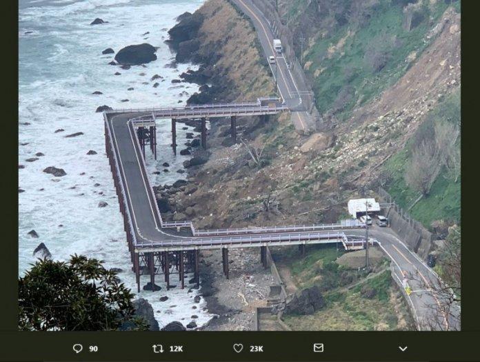 日本福井市臨時橋道