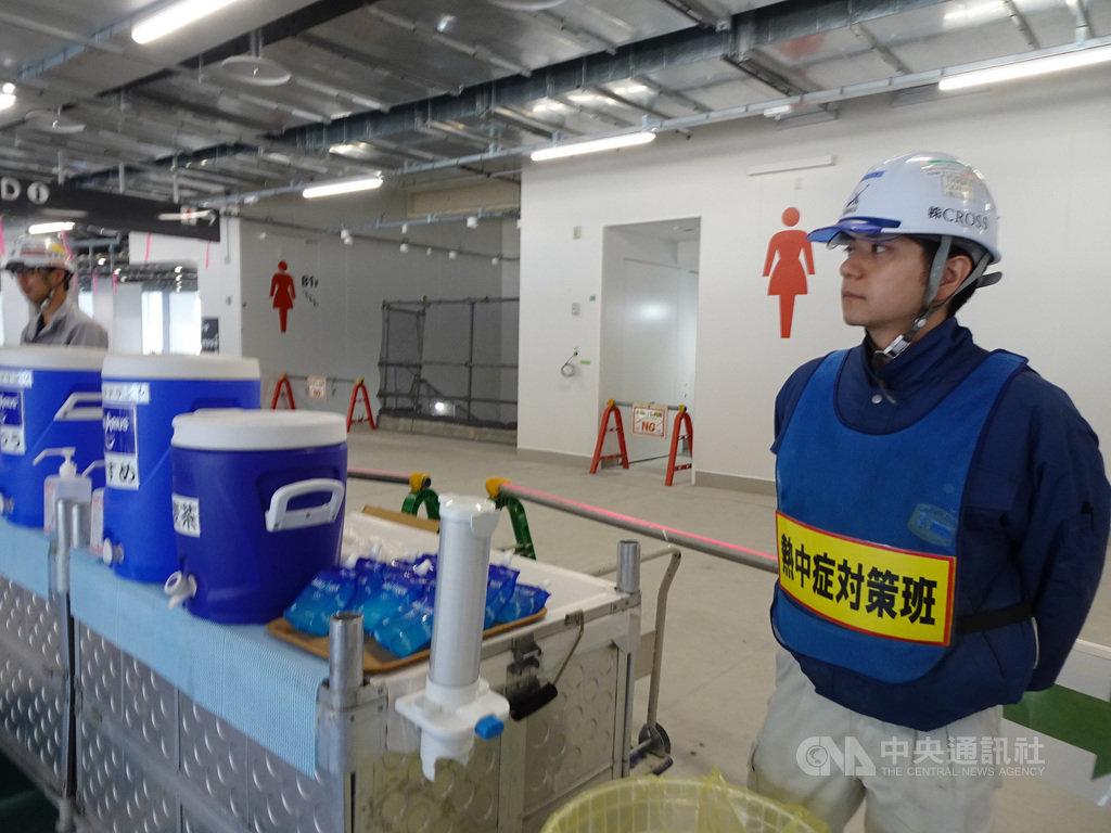 2020年東京奧運主場館新國立競技場已完工9成,施工單位表示,興建的工人都知道抗暑對策。