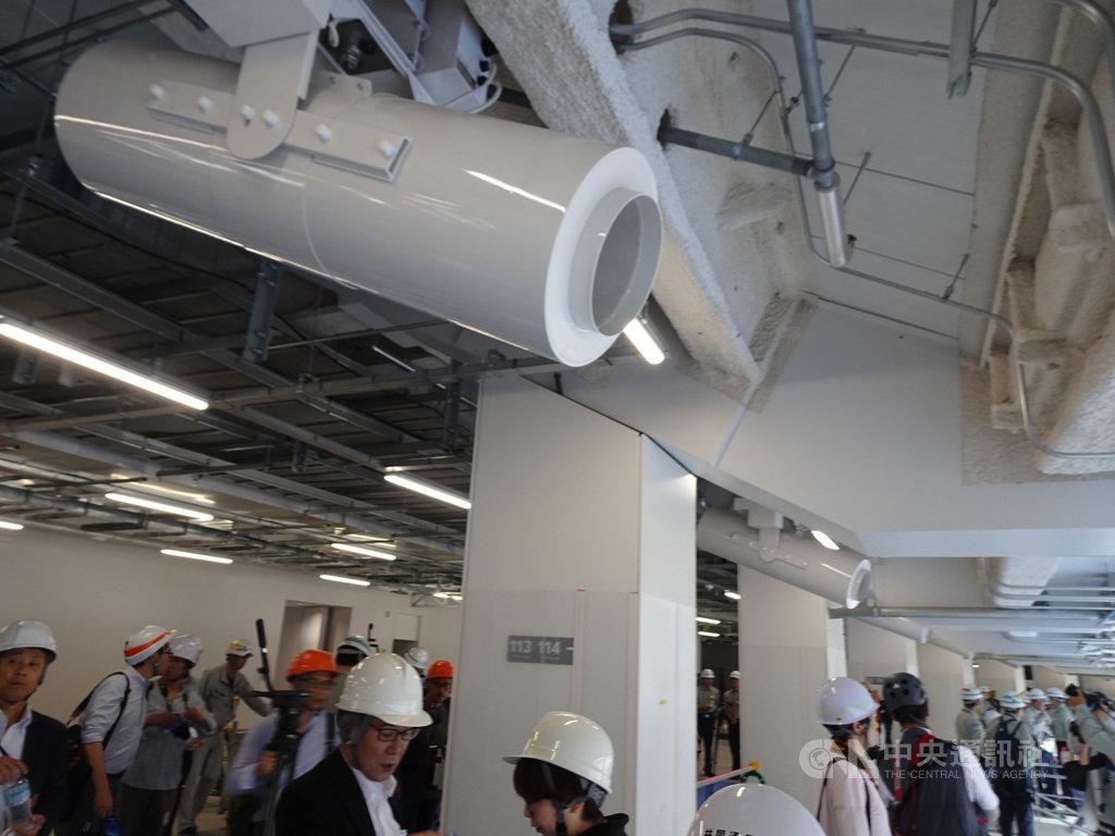 2020年東京奧運主場館新國立競技場已完工9成,預計11月底完工。在抗暑對策上,設有「氣流創出扇」的涼風扇,另外有噴霧設備。