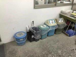 各種垃圾分類收集箱