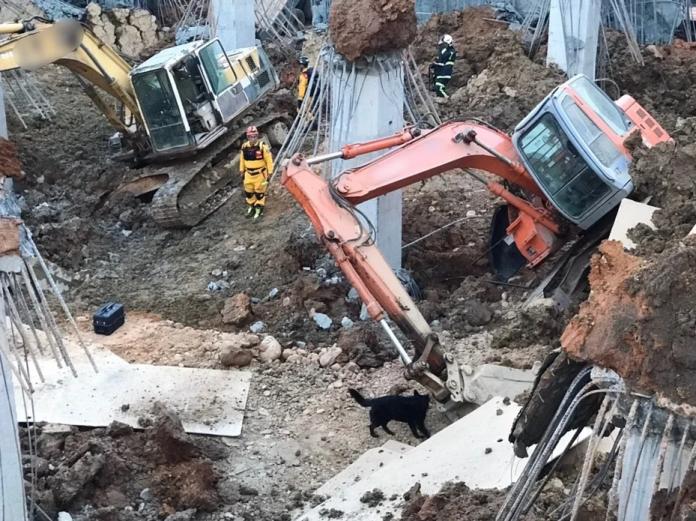 桃園市平鎮區文化公園地下停車場工程發生崩塌意外,有一名女工人失聯,現場已加強安管措施,後續也將加強安全防護,並針對周邊道路及建築房舍進行安全監測。