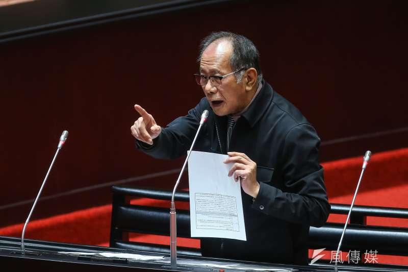 國民黨立委陳超明曾在立法院質詢時,對「山坡地開發回饋金」提出質疑。<風傳媒 資料照,顏麟宇攝>