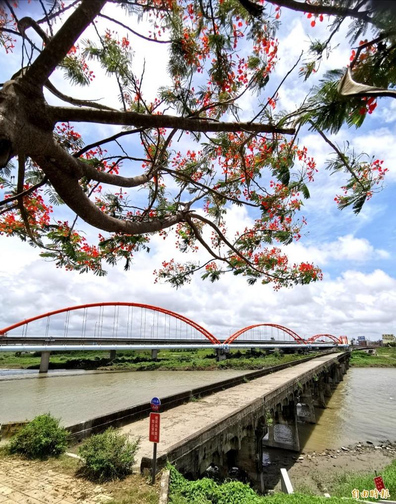 二層行溪舊公路橋被列為歷史建築。<自由時報 記者吳俊鋒 攝>