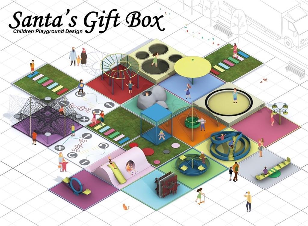 台灣科技大學建築所應屆畢業生許禕洋、吳睿文設計「聖誕老人的禮物盒」,將遊樂設施模組化裝入功能方塊,獲美國傑出工業設計獎(IDEA)銅獎。