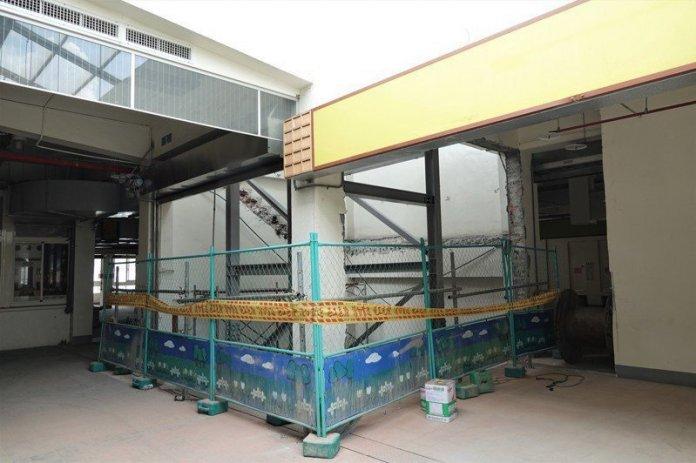 鹿港鎮第一市場展開耐震補強工程,提升市場耐震能力。