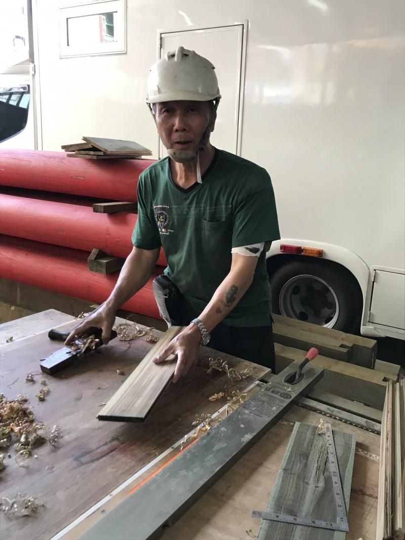 台南市新增的「大木作」技術保存者吳權坤。