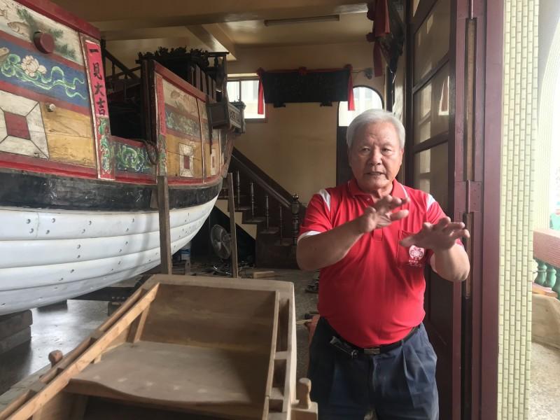 台南市新增的「王船建造與修復」技術保存者陳金龍。