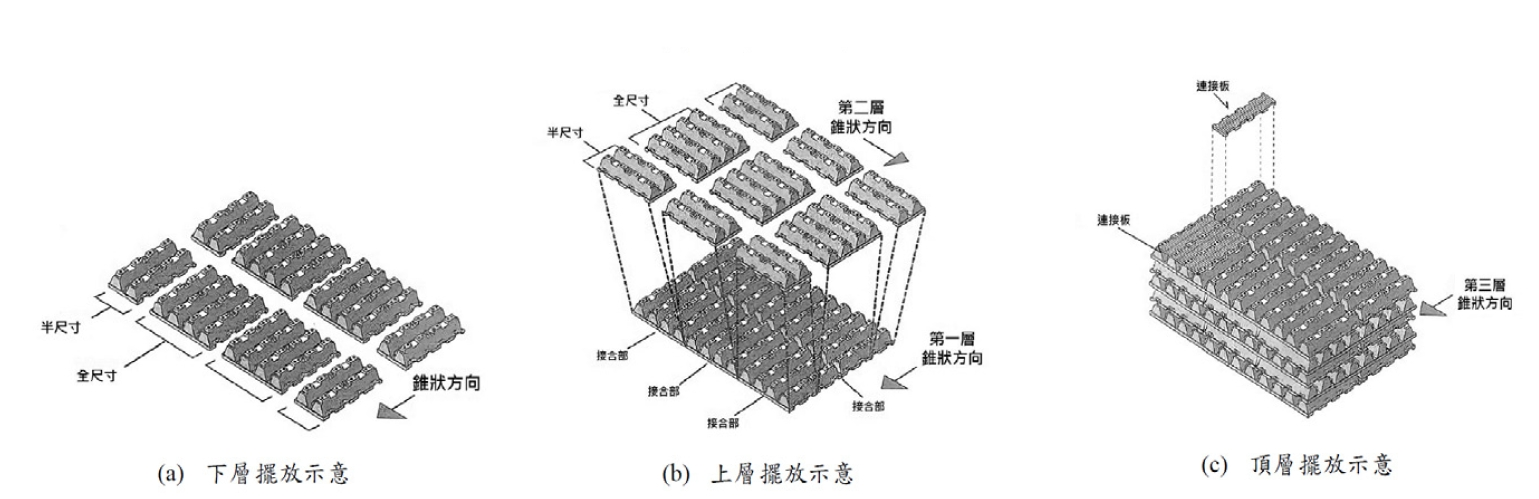 雨水貯留磚堆疊示意圖